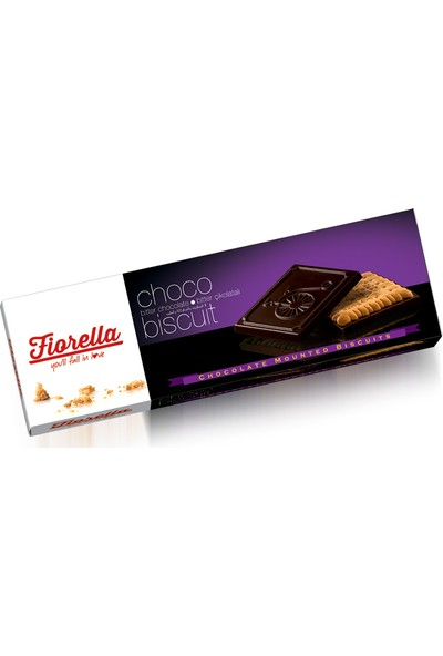 Elvan Fiorella Sütlü Çikolatalı Bisküvi 102 Gr. 6 adet (1 kutu)