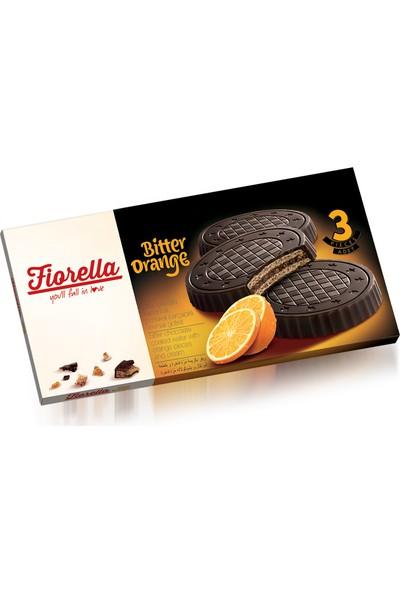Elvan Fiorella Bitter Çikolatalı Portakal Kremalı Gofret 20 gr 3'lü x 24 Adet (1 Koli)