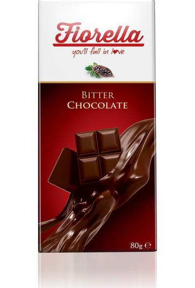 Elvan Fiorella Bitter Çikolata Tablet 80 Gr. 10 Adet (1 kutu)