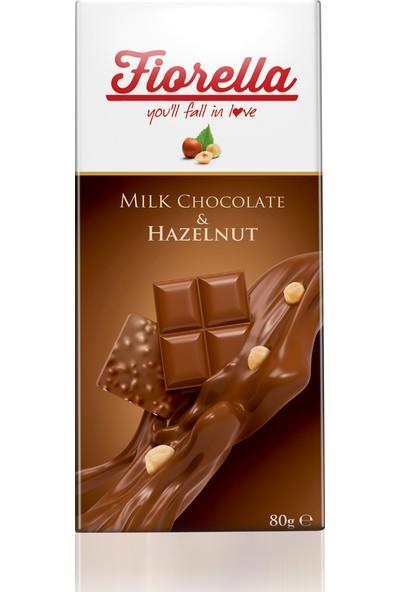 Elvan Fiorella Fındıklı Çikolata Tablet 80 Gr. 10 adet (1 kutu)
