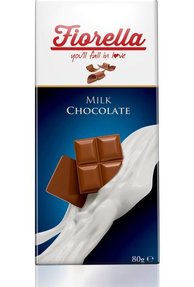Elvan Fiorella Sütlü Çikolata Tablet 80 Gr. 10 Adet (1 Kutu)
