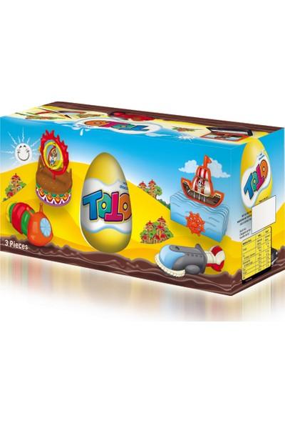 Elvan Toto Çikolatalı Yumurta 20 gr 3'lü (1 Kutu)