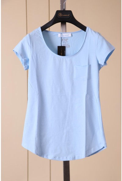 Aclassics Mavi Cep Detaylı Pamuk T-Shirt