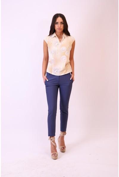 Aclassics Sarı Batik Desenli Bluz