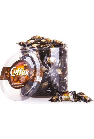 Elvan Coffex Kahveli Şeker 1000 gr (1 Silindir Kutu)