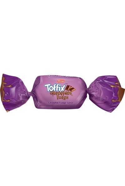 Elvan Toffix Fudge Çikolatalı Şeker 1000 gr (1 Poşet)