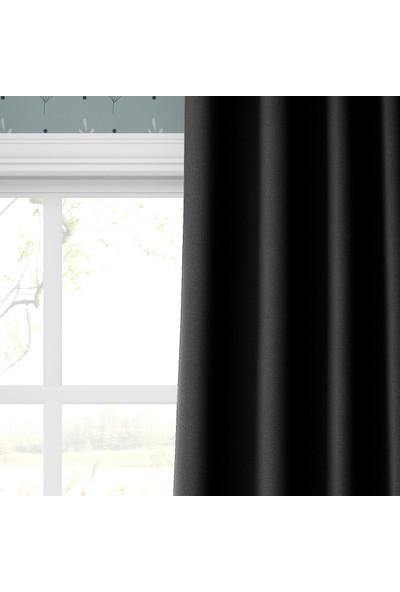 Karnaval Siyah Blackout Fon Perde Tek Kanat 100 x 255 cm