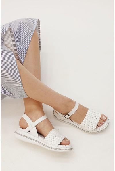 Marjin Kadın Heltar Düz Sandalet