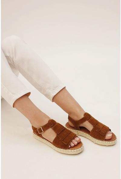 Marjin Kadın Vakel Düz Sandalet