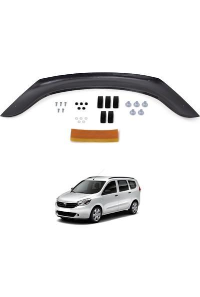 Dacia Lodgy Ön Kaput Koruyucu Rüzgarlık Deflektör Akrilik ABS 4mm Parlak Siyah 2013 ve Sonrası