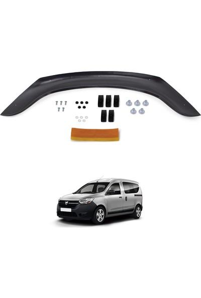 Dacia Dokker Ön Kaput Koruyucu Rüzgarlık Deflektör Akrilik ABS 4mm Parlak Siyah 2013 ve Sonrası