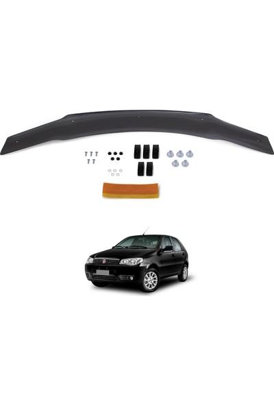 Fiat Palio Ön Kaput Koruyucu Rüzgarlık Deflektör Akrilik ABS 4mm Parlak Siyah 2006-2012