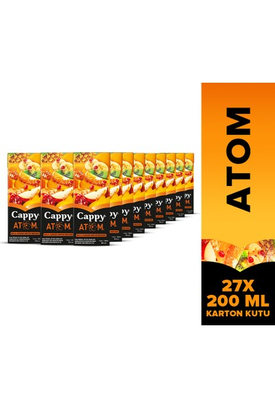 Cappy Atom 200 ml Tetra 27'li