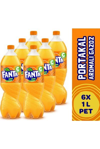 Fanta Pet 1 lt x 6'lı Paket