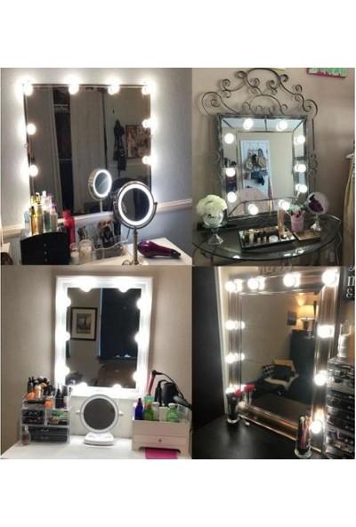 Taled Makyaj Aynası Ledi Hollywood Tarzı Ayna Led Işık Usb'li 10'lu 5 m