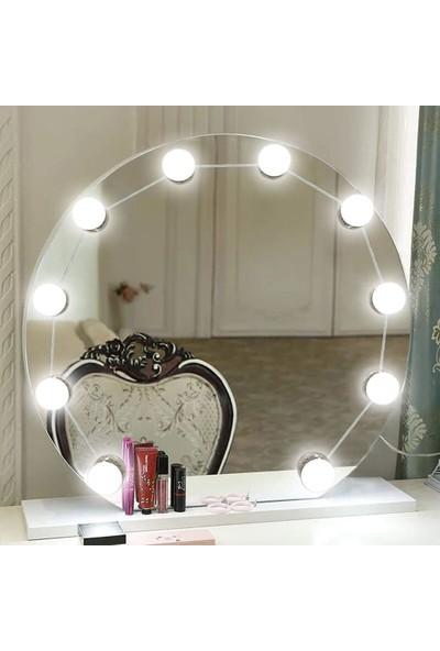 Taled Hollywood Tarzı 10'lu Makyaj Aynası Ledi Dim Edilir 4 m