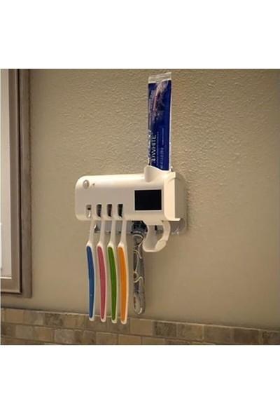 Taled Akıllı Diş Macunu Sıkacagı Dispenser Uv Fırça Sterilizatör Tutucu