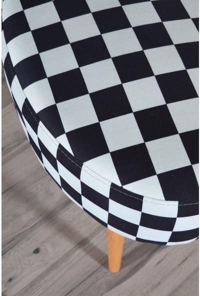 Zeen Concept Valente Oval Puf Dama Desenli