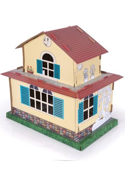 Arnas Toys Sarı Köşk 3D Karton Maket Boyama Ev
