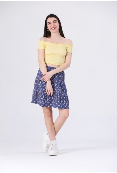 Canela Sarı Gipeli Bluz