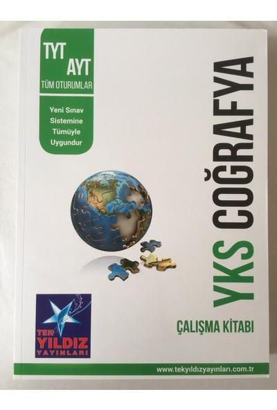 Tek Yıldız Yayınları YKS TYT AYT Tüm Oturumlar Coğrafya Çalışma Kitabı
