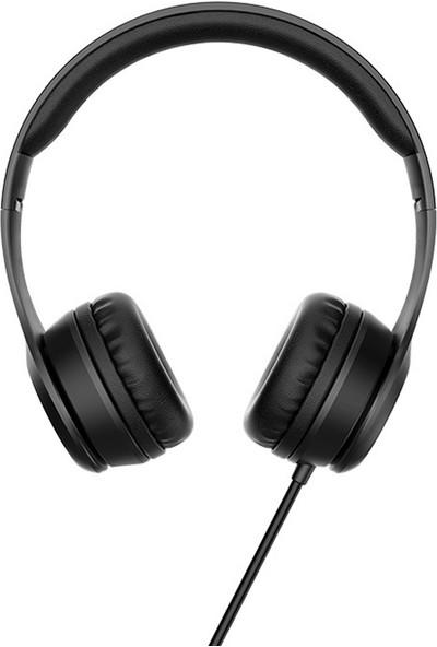 Hoco W21 Kulaküstü Metal Kablolu Katlanabilir Mikrofonlu Ayarlanabilir Kulaklık (Yurt Dışından)