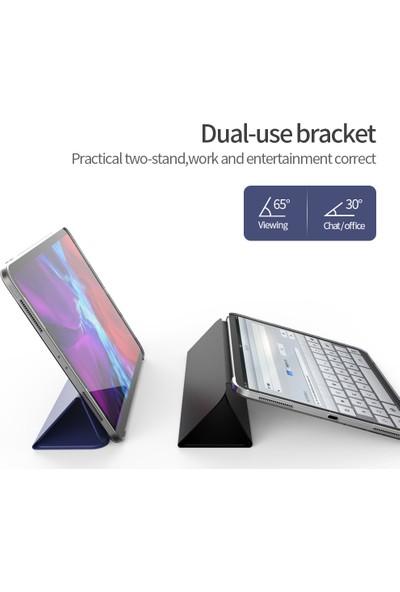 Fujimax Apple iPad Pro 11 2020 2.nesil 3 Kameralı A2228 A2068 A2230 A2231 Seri Uyku Modlu Shock Proof Arka Sert P.c Smart Tablet Kılıf Siyah