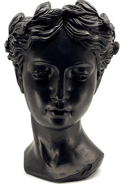 Karo Design Dekoratif Helen Saksı Heykel Siyah Model
