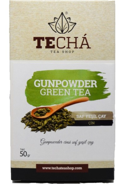 Te Cha Tea Gunpowder Green Tea 50 Gr Saf Yeşil Çay