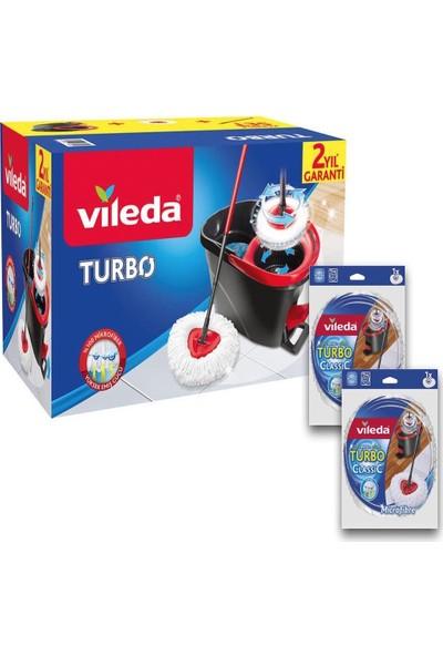 Vileda Turbo Pedallı Temizlik Seti + (2 Adet Yedek Paspas)