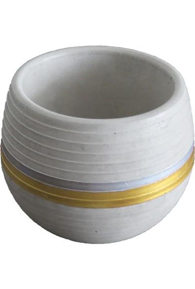 Ghogol Home Beton Küre Saksı Mod1 6,5 x 7,5 cm