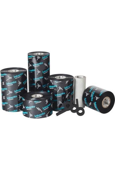 Inkanto Wax-Resin Ribon Siyah 80mm x 300m (Out)