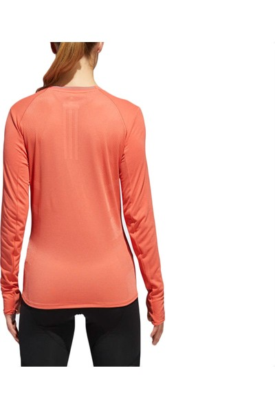 adidas Kadın Uzun Kollu T-Shirt Spor Turuncu CG1092 Fran Sn Ls W