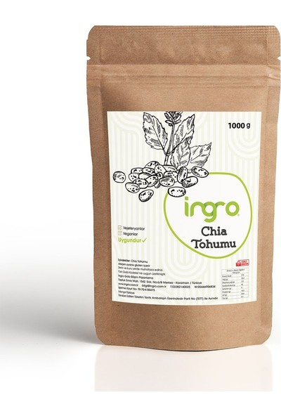 İngro Glutensiz Chia Tohumu 1 kg