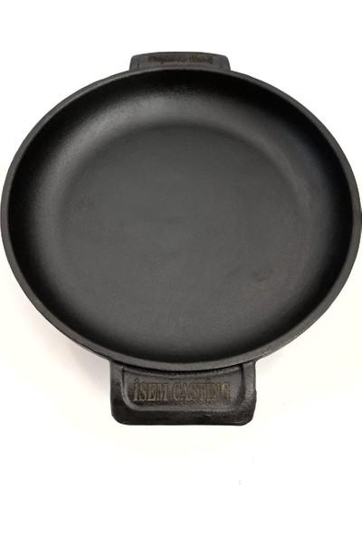 Isem Casting Kaplamasız Organik Demir Döküm Tava 26 cm