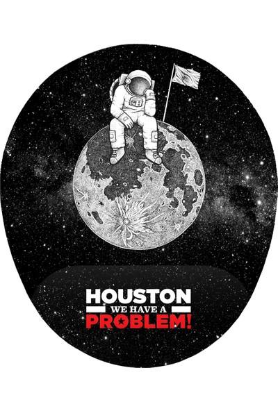 İyi Fikirler Houston Bir Sorunumuz Var Bilek Destekli Mousepad