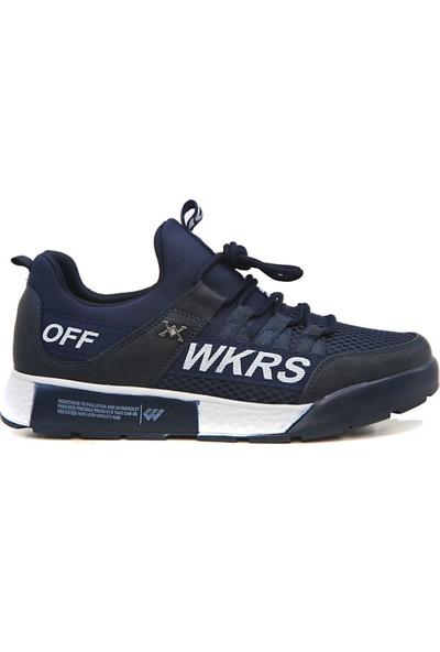 Wickers Erkek 2300 Anr Lacivert Beyaz Ayakkabı