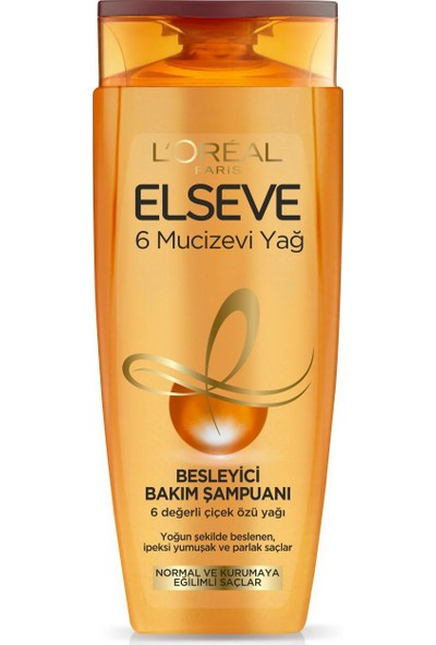Loreal Paris Elseve 6 Mucizevi Yağ Besleyici Bakım Şampuanı 450 ml
