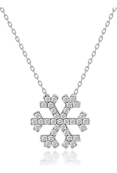 Choice Silver Gümüş Zirkon Taşlı Kar Tanesi Kolye