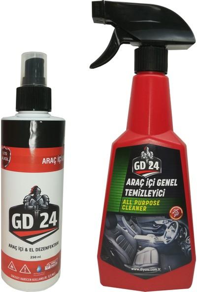GD24 Araç İçi Temizleme Spreyi + GD24 Araç İçi Dezenfektan