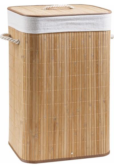 Rem Lorin Bambu Katlanır Çamaşır Sepeti Naturel