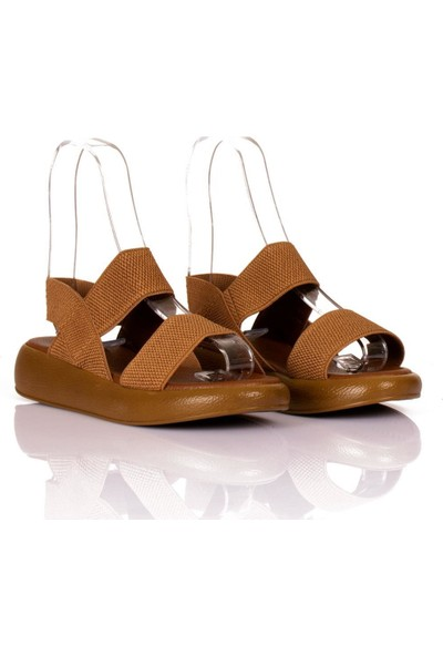 Beety Kalın Taban Lastik Bantlı Kadın Sandalet