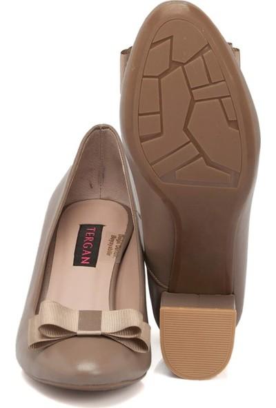 Tergan Vizon Deri Kadın Ayakkabı 64333A44