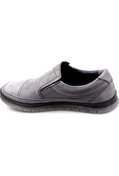 Goes 504 Ortapedik Gri Günlük Erkek Nubuk Deri Ayakkabı