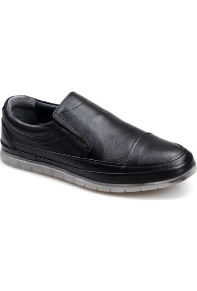 Goes 504 Ortapedik Siyah Günlük Erkek Deri Ayakkabı