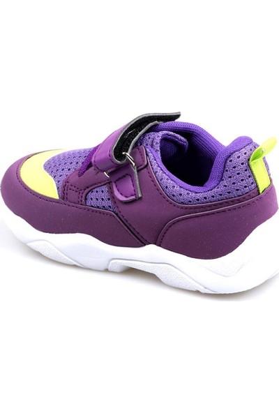 Cool 20-S19 Mor Kız Çocuk Bebe Fileli Günlük Spor Ayakkabı