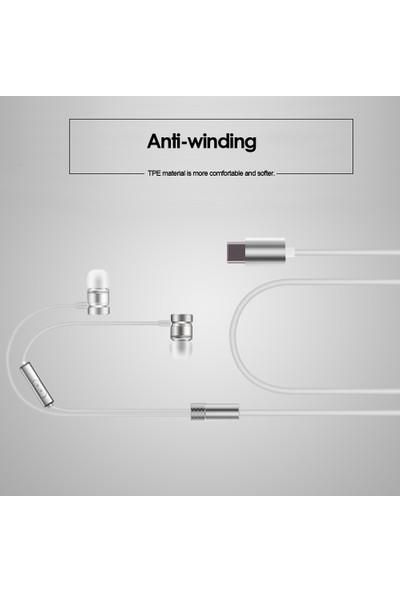 Buyfun USB Tip-C Kablolu Metal Usb-C Kulaklık (Yurt Dışından)