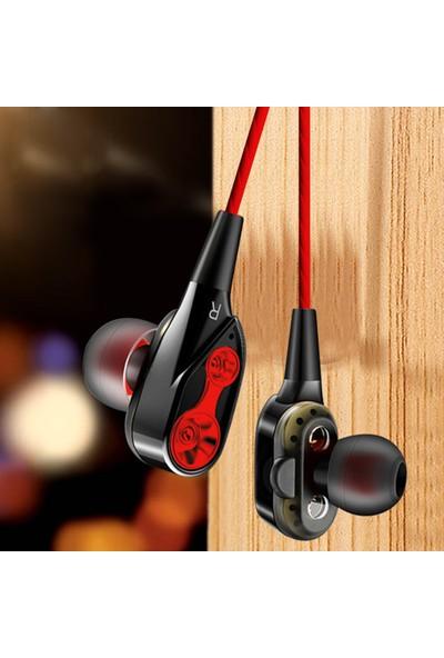 Buyfun Çift Dinamik Dört Çekirdekli 3.5 mm Gürültü Önleyici İzolasyon Kulaklık (Yurt Dışından)