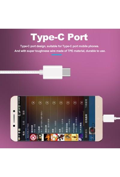 Buyfun USB Tip-C Kablolu Taşınabilir İçi Kulaklık (Yurt Dışından)