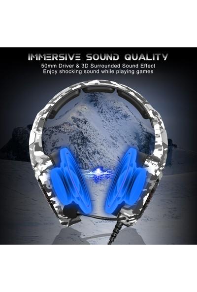 Onikuma K8 3.5 mm Gaming Headset Stereo Aşırı Kulaklık (Yurt Dışından)
